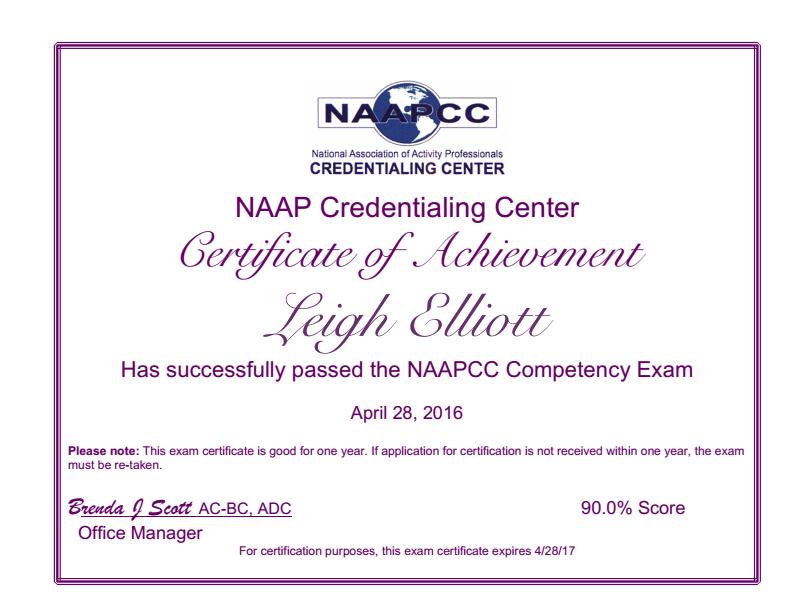 Certificates Of Completion Team Elliott Education