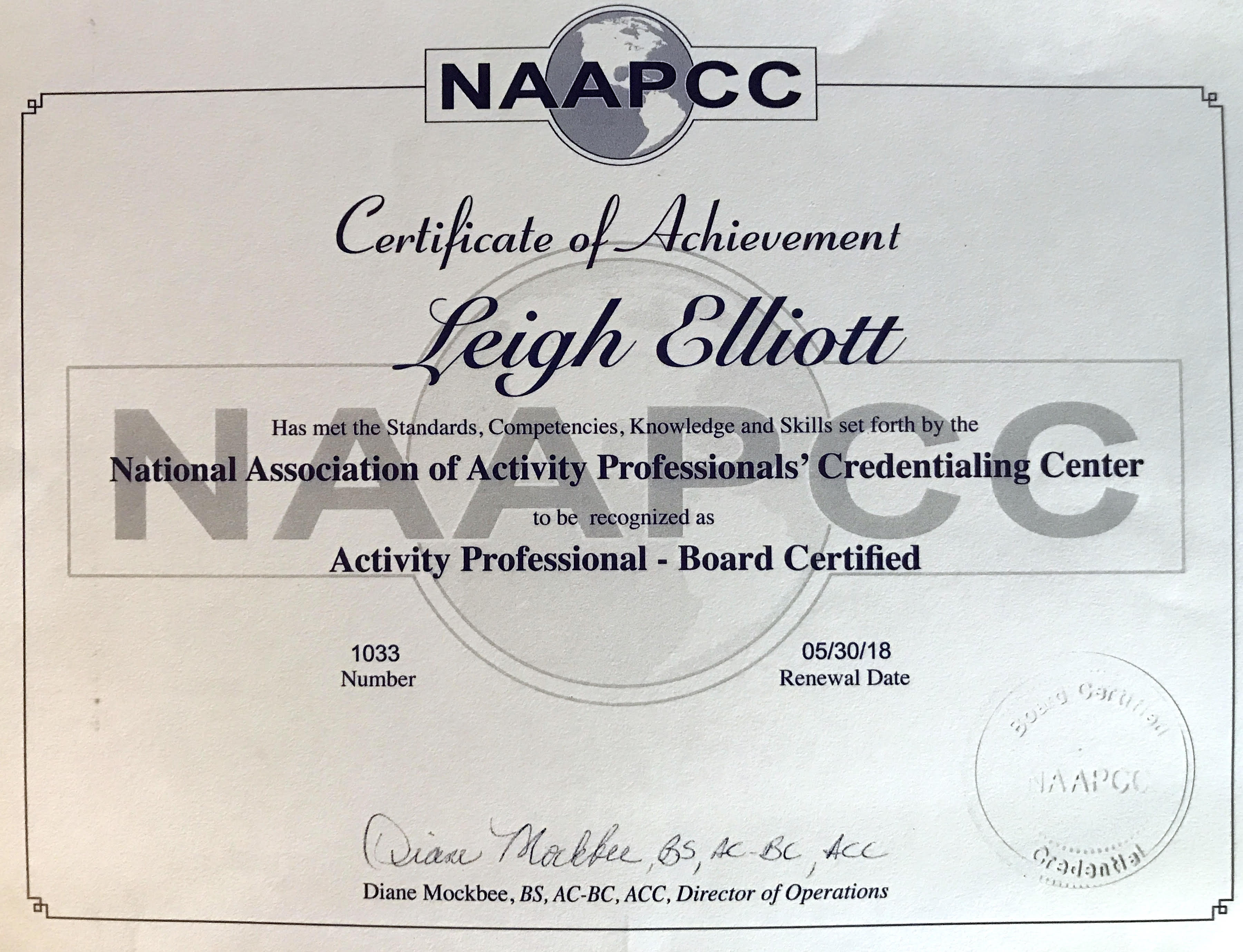 certificate activity certificates completion credentialing professionals national association center