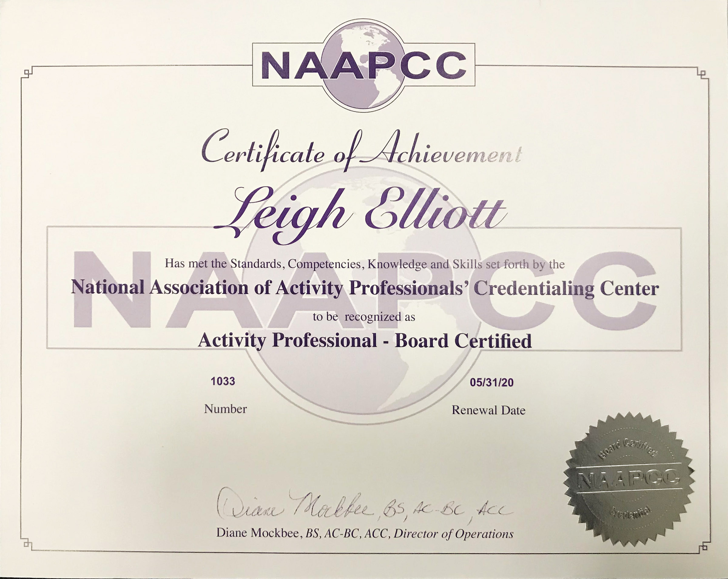 certificate activity completion credentialing certificates professionals association national center